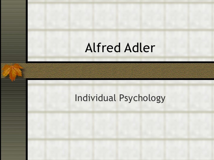 alfred adler theory and application
