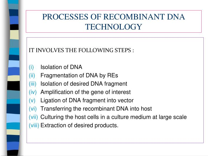 application of recombinant dna technology in pharmaceutical industry