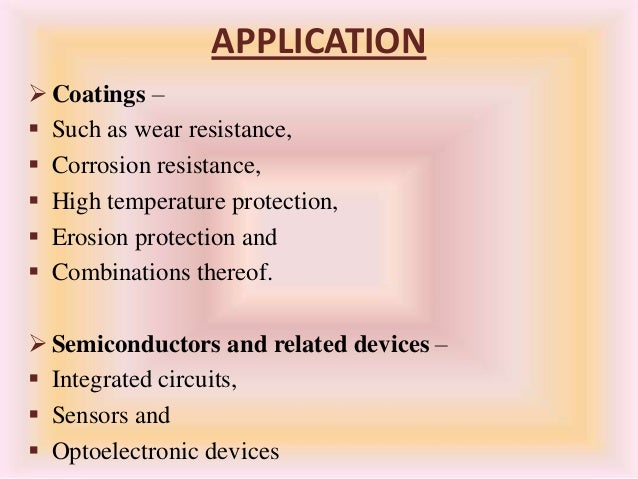 applications of cvd and pvd