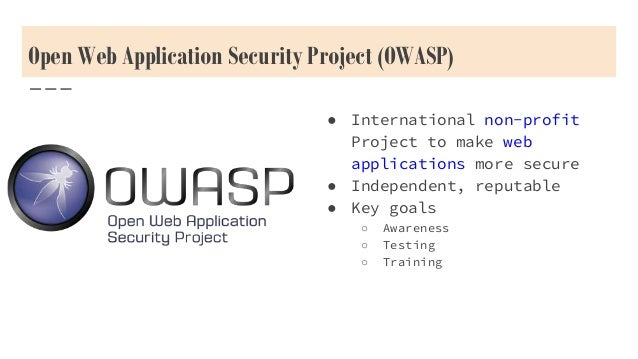 open web application security project owasp top 10