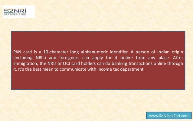 pan card application form for oci holders