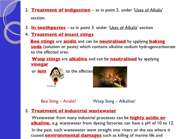 application of acid and base in daily life