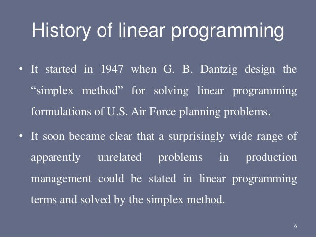 linear programming methods and applications