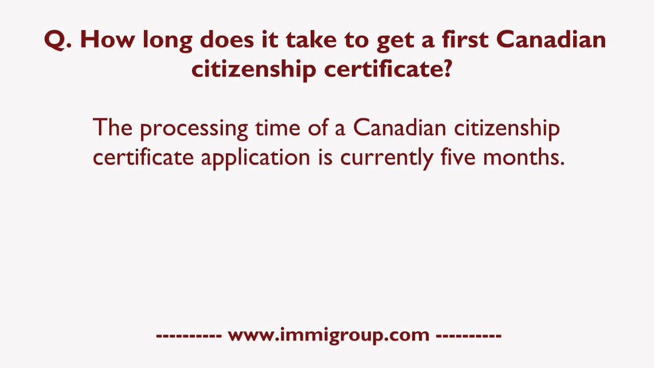 how long does citizenship application take in canada