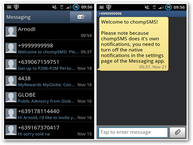 send sms from web application