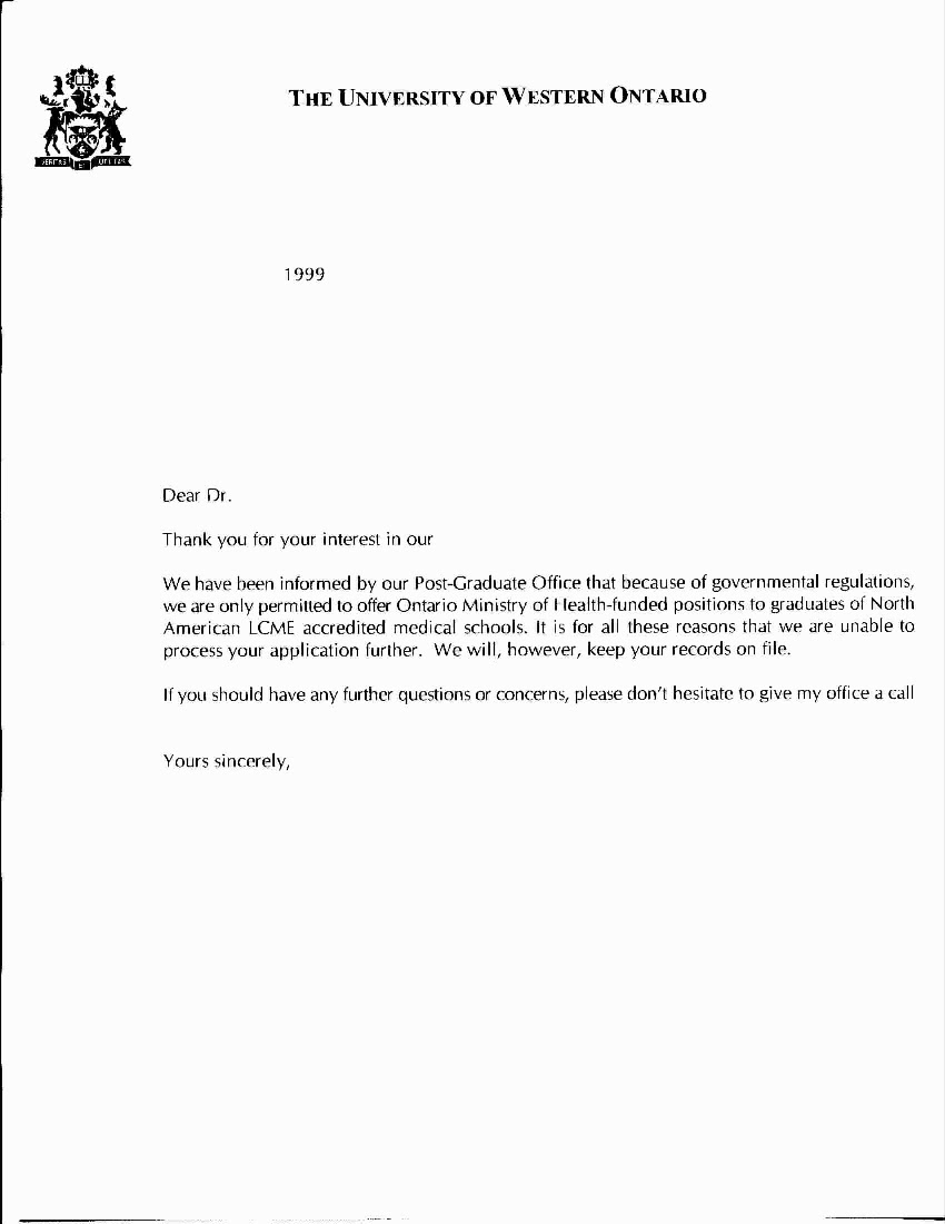 job application letter for any available vacancy