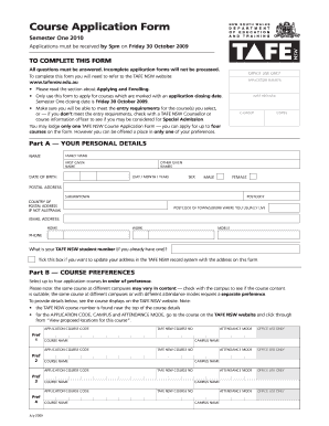 northern lakes college application form