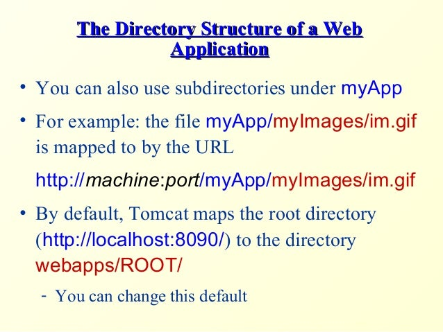 tomcat directory structure of a web application